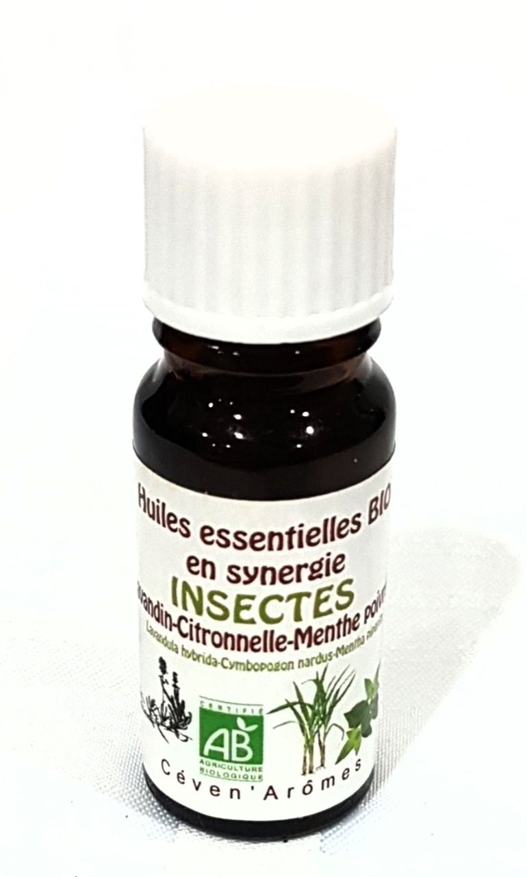 Synergie huiles essentielles insectes bio 10ml | CEVEN AROMES