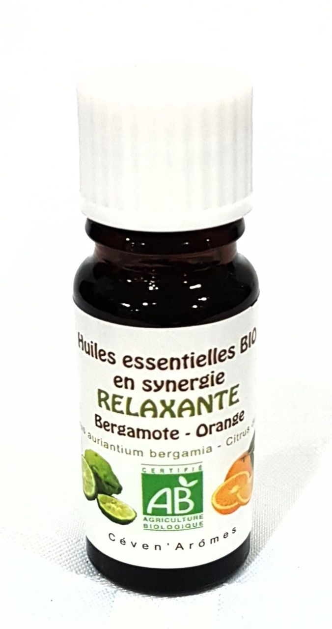 Synergie huiles relaxante bio 10ml | CEVEN AROMES
