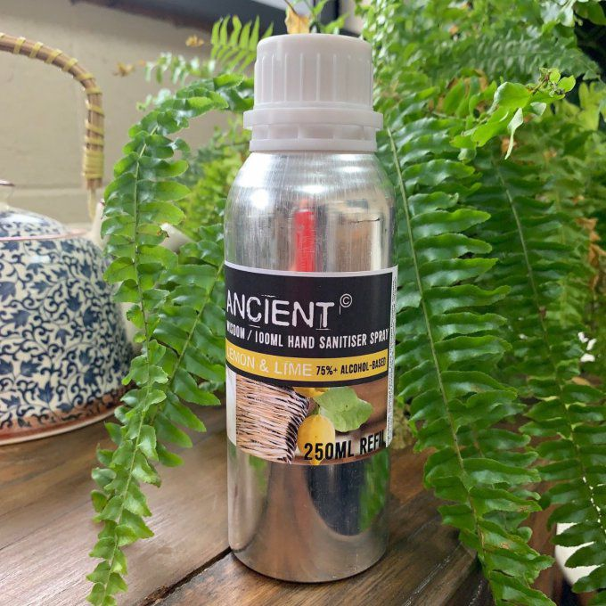 Recharge spray désinfectant mains 250ml citron vert